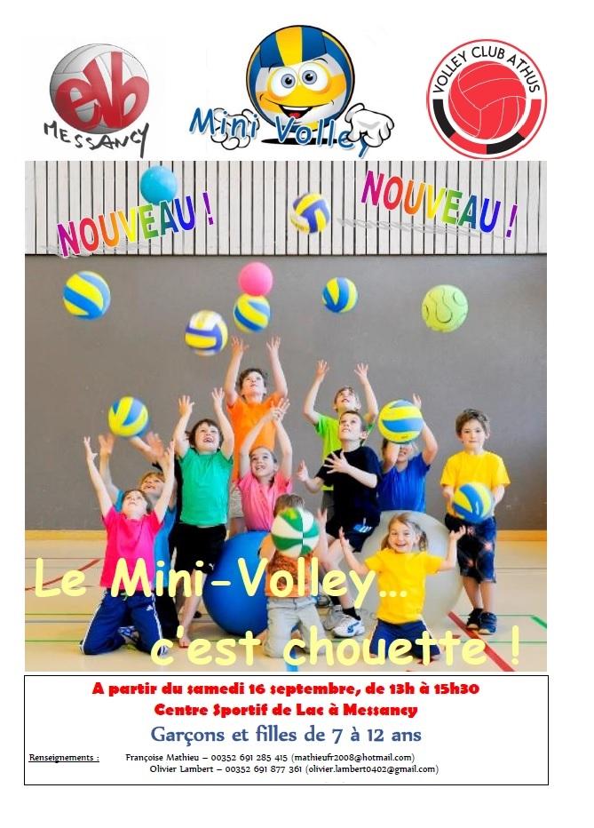 Affiche recrutement mini-volley